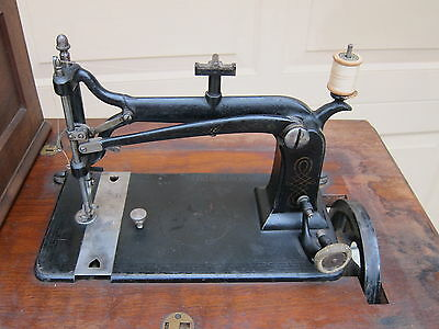"c 1870's ANTIQUE ""WEED"" TREADLE SEWING MACHINE:  SIR# 212135"