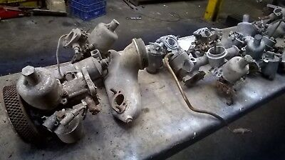 job lot old su carbs and manifolds sold as spares