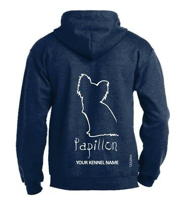 Papillon Dog Breed Hoodie, Pullover style, Exclusive Dogeria Design
