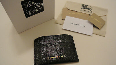 BURBERRY Business Card Holder / London Leather Glitter Izzy Card Case
