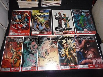 WOLVERINE 4th Series MARVEL NOW! Lot of 9 #1 2 3 5 6 9 10 11 12 NM!