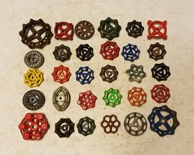 30B Colorful Beautiful Water Faucet Knob Valves Handle Steampunk Industrial Art