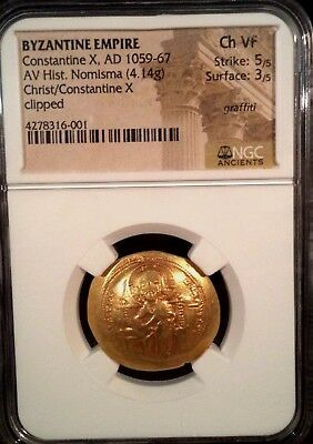 Byzantine Empire Constantine X ( AD 1059-67 ) Ancient Gold Coin NGC  CH VF