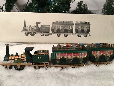 New Department 56 Heritage Village Series The Flying Scot Train #5573-5 Set Of 4