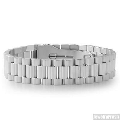 Stainless Steel Silver Watch Band Style Presidential Bracelet