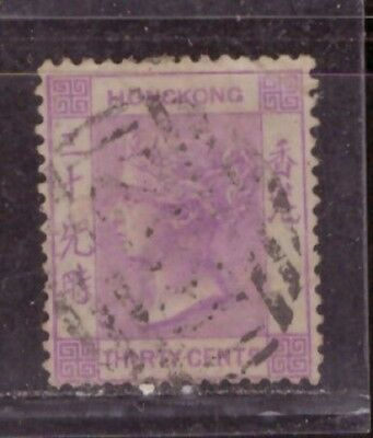 1863 British colony in China stamps, Hong Kong QV 30c used, CCC, SG16
