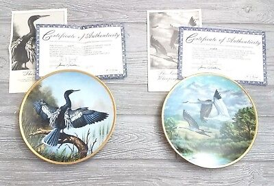 The Elegant Birds Series 4th & 6th Issue Collector Plates W S George
