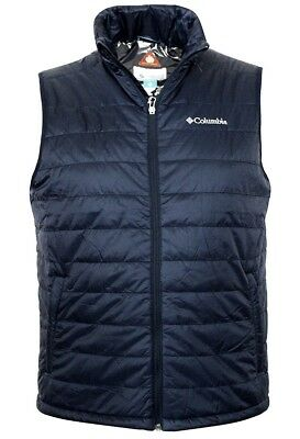 Columbia Men's Crested Butte II Omni Heat Puffer Vest, Navy Blue, Small, NWT