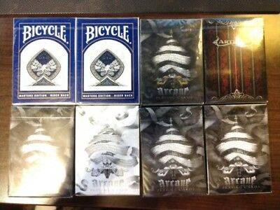 Gold Arcane Artifice Red Authentic Rare Playing Cards Bicycle Ellusionist LOT