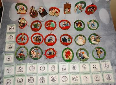 Norman Rockwell Merry Christmas Ornament Collection 24 pc set In Box Danbury