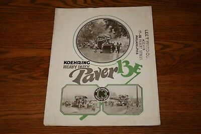 Koehring Heavy Duty Pavers 13E Advertising Sales Brochure Construction Equipment