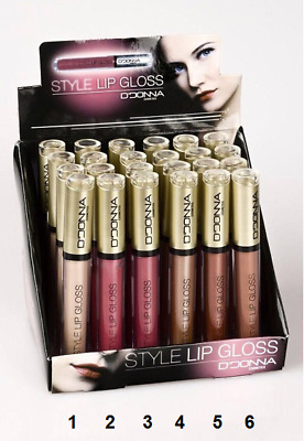 2 X Lucidalabbra Rossetto Liquido Impermeabile Trucco Lip Gloss Make Up 2 Pz New