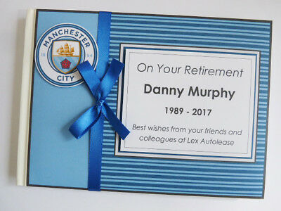 Personalised Manchester City Retirement/wedding/gift Guest Book - Any Colour