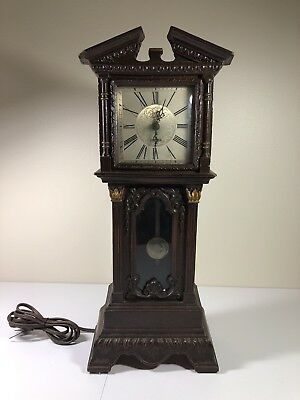 1950's Haddon Electric Motion Mini Grandfather Clock Model#10 (Parts or Repair)