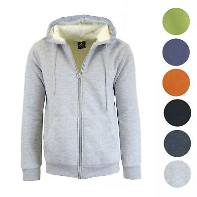 Mens Sherpa Fleece Lined Modern Fit Hoodie - Super warm and comfy - NEW