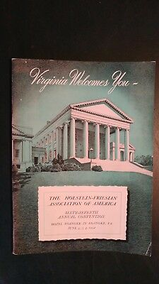 1952 National Holstein-Friesian Association  Convention Souvenier Book -Virginia