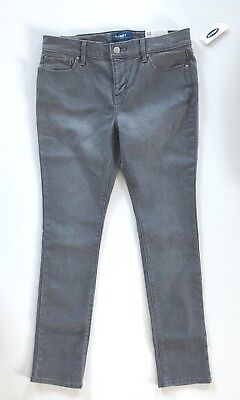 New NWT! Girl's Old Navy Super Skinny Denim Jeans, Gray Size 12 Plus