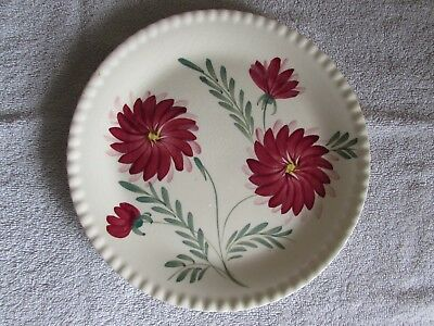 "Vintage Blue Ridge Hand Painted Southern Pottery Galleries Dahlia 9"" Dinne Plate"