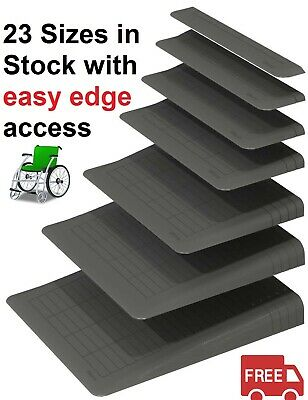 Rubber Threshold Wheelchair Ramps  23 Sizes from 15mm to 125mm in height