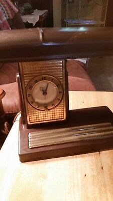 Vintage Sessions Portable Lamp Andclock #5664 Industrial Lamp Corp Desk Table