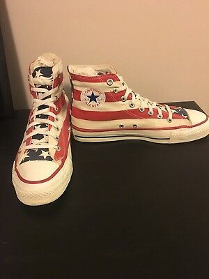 Vintage Converse All Star Made In USA, American Flag, Size  men's 8 1/2
