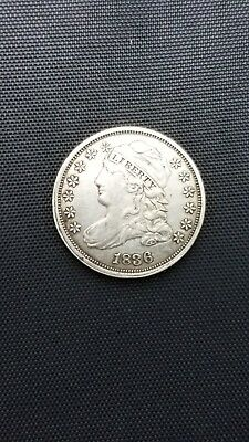1836 Capped Bust Dime Silver Coin