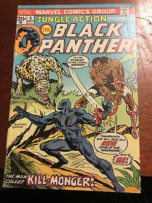 Jungle Action #6 Black Panther1St Killmonger Vg- Mark Jewelers Variant!! Wow