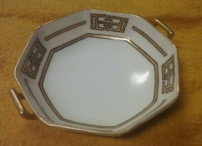 Noritake Morimura Nippon Antique Serving Dishe Gold Hand Painted Octagon vintage