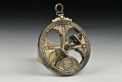 Vintage Portuguese Sterling Silver Nautical Astrolabes By Leitao & Irmao