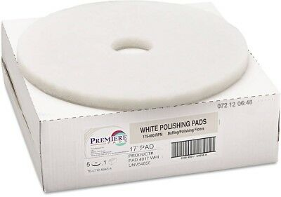 Boardwalk Standard 17' Floor Polishing Pads, White, 5 Count