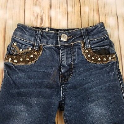 Rodeo Girl Jeans bling rhinestones cowgirl little girl size 6x