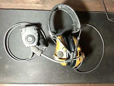 3M PELTOR ComTac ACH Communication Headset, Single Comm With PTT