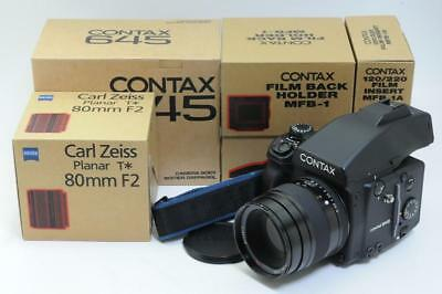 [MINT in Box] Contax 645 AF Medium Format ,Planar 80mm F2 **OH** From JAPAN #316