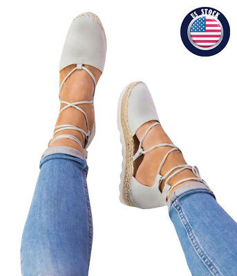 Women Shoes Spring Summer Sandals Strappy Flat Casual Home Slippers US Stock