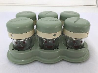 Baby Bullet Storage System Containers Small Jars With Lid Set Of 6 Replacements