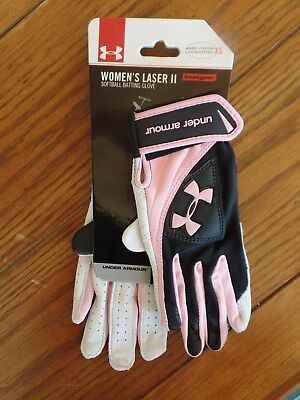 Under Armour Women's Laser II, Softball Batting Gloves XS. MSRP $34.99