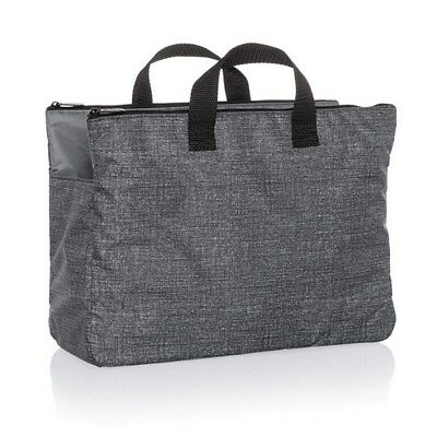 Thirty-One 31 Gifts 31 SUPER SWAP-It  Pocket- CHARCOAL CROSSHATCH