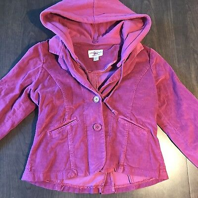 Woven Works Couture For Kids Corduroy Jacket With Removable Hood