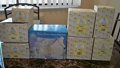 Precious Moments Christmas Lot Of 8, Mint W/ Boxes 150096, 455814, 529273, Etc.