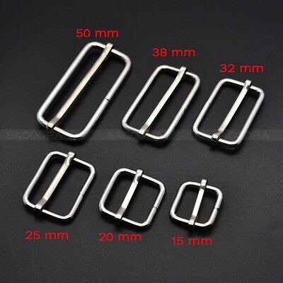 Metal Slides Tri-Glides Wire-Formed Roller Pin Buckles Strap Slider Adjuster