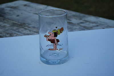 1981 Arby's BC Ice Age Collector Glass - Lady with bat & snake - NICE!!!