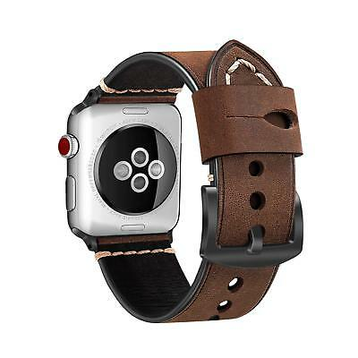 Genuine Leather Watch Strap Band for Apple Watch 42mm Series 3 Series 2 Series 1