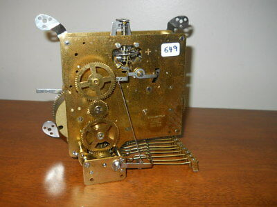 '72 Hamilton-Hermle 1050-020 2 Jewel 8 Day Triple Chime  Movement, Ready To Use