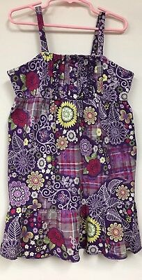 Girl Toddler Purple Floral Sundress Size Medium (7/8) By The Children's Place