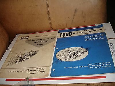 2 Ford two row mounted owners manual corn picker harvester series 602