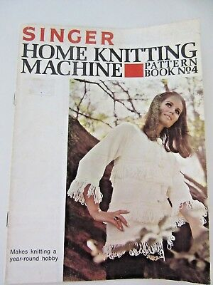 SINGER Home Knitting Machine PATTERN BOOK # 4-Coat, Dress, Suit, Dressing Gown +