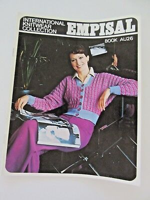 EMPISAL Knitting Machine PATTERN BOOK # AU26 - Cardigans, Jumpers, Dress, Vests