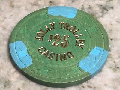 $25.00 Jolly Trolley Casino Chip, Las Vegas—Free Shipping!