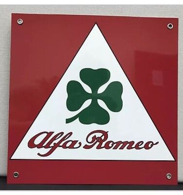 Alfa Romeo clover Italian racing reproduction Motor Oil Gas Garage Sign