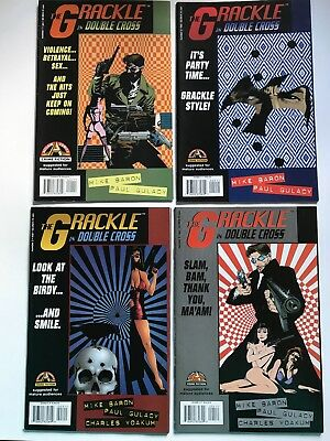 THE GRACKLE IN DOUBLE CROSS #1 2 3 4 (1997) ACCLAIM Comics Lot of 4